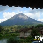 La vista desde la habitacion del Hotel Montaña de Fuego