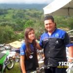 Oscar Carmona y su hija María José