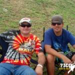 Cañinflas y Juan D Ramírez esperando a que inicien las carreras